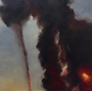 Wüstenfeuer #2, 120x120cm (Öl auf Leinwand)