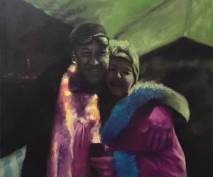 Burning Man #Remember the Nights, 110x130cm (Öl auf Leinwand)