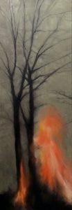 Es brennt, 170x60cm (Öl auf Leinwand)
