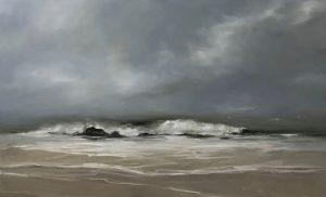 Nordseewelle, 80x130cm (Öl auf Leinwand)