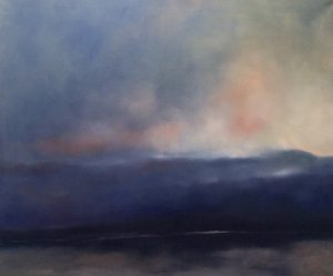 Morgennebel, 110x130cm (Öl auf Leinwand)