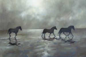 Wild Horses, 80x120cm  (Öl auf Leinwand)