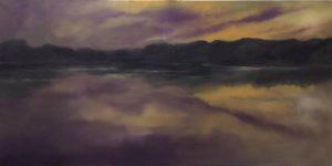 Winterabend, 70x140cm (Öl auf Leinwand)