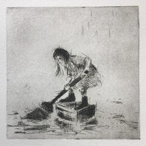 Überschwemmung (15x15cm)
