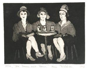 Drei Damen mit Brause (15x20cm)