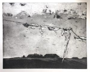 Wäsche im Wind (50x40cm)