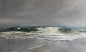 Wildes Meer, 80x130cm (Öl auf Leinwand)