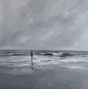 Meerblick, 70x70cm (Öl auf Leinwand)