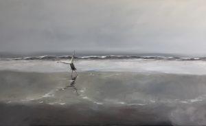 Strandtag, 80x130cm (Öl auf Leinwand)