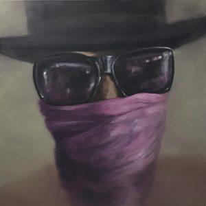 Burning Man#the Portraits 1, 110x110cm (Öl auf Leinwand)
