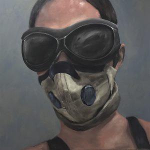 Burning Man#the Portraits 2, 110x110cm (Öl auf Leinwand)