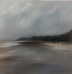 Wintermeer, 70x70cm (Öl auf Leinwand)