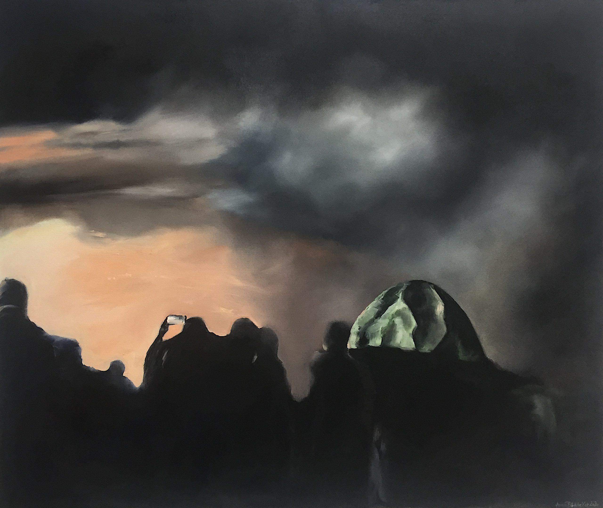 Biikebrennen, 110x130cm (Öl auf Leinwand), 2020