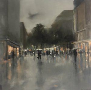 Cityscapes#3, 70x70cm (Öl auf Leinwand), 2020