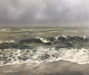 Stürmische Ostsee, 110x130cm (Öl auf Leinwand), 2020