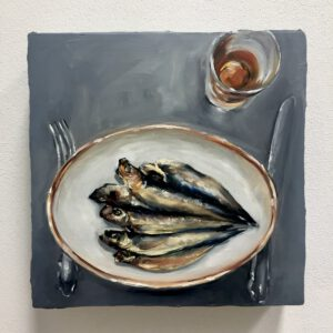 Tischkasten: Dinner for one #2, 30x30x6cm