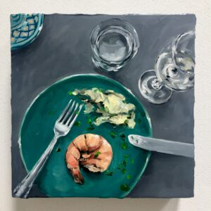 Tischkasten: Dinner for one #1, 30x30x6cm