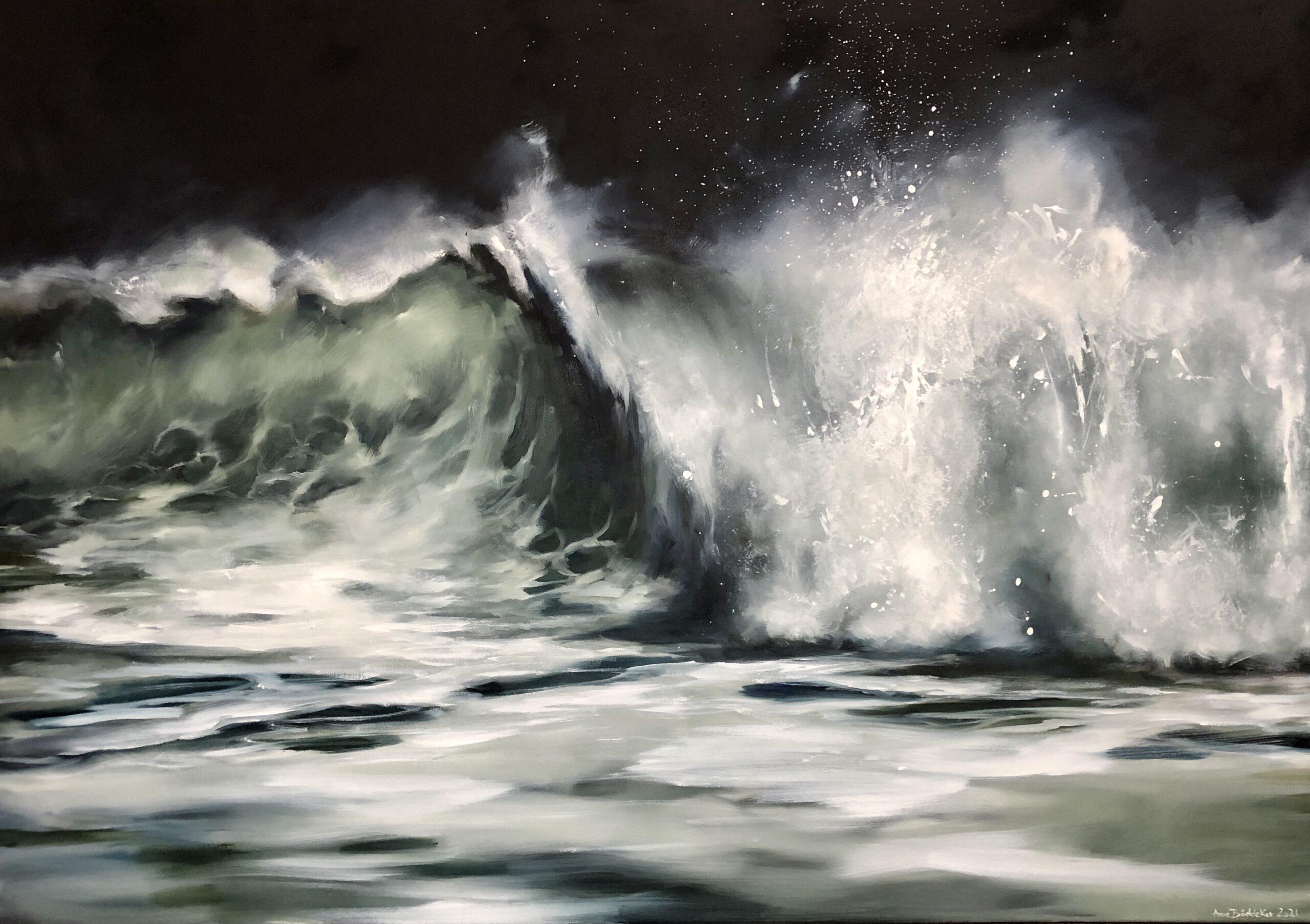 Black wave, 120x170cm, Öl auf Leinwand